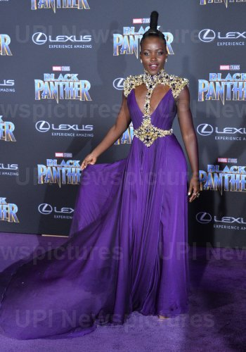 """Lupita Nyong'o attends the """"Black Panther"""" premiere in Los Angeles"""
