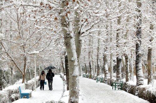 Heavy snow fall in Tehran