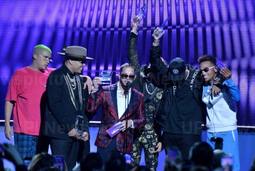 Bad Bunny, Darell, Casper Magico, Nio Garcia, Nicky Jam and Ozuna win award at the Billboard Latin Music Awards in Las Vegas