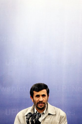 Iran's President Mahmoud Ahmadinejad holds a press conference in Terhan
