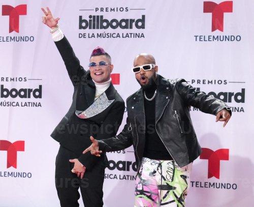 Jowell & Randy at the 2020 Latin Billboard Awards in Sunrise, Florida