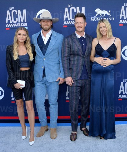 Brittney Marie Cole Kelley, Brian Kelley,Tyler Hubbard and Hayley Hubbard attend the Academy of Country Music Awards in Las Vegas
