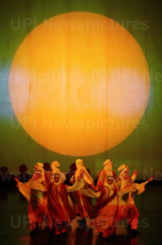 Iranian actors perform in tribute to the Iranian poet Molana Jalal ad-Din Rumi