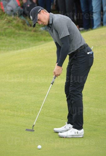 Jordan Spieth on the 2nd day of the Open Championship at Royal Portrush