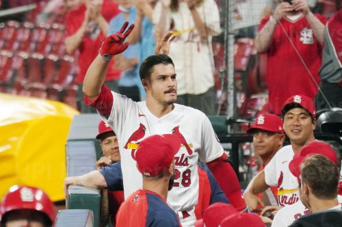 St. Louis Cardinals Nolan Arenado Hits Three Run Home Run
