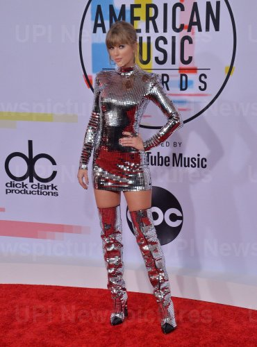Taylor Swift attends 46th annual American Music Awards in Los Angeles.