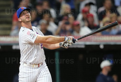 Mets' Pete Alonso during the MLB All-Star Home Run Derby in Cleveland, Ohio
