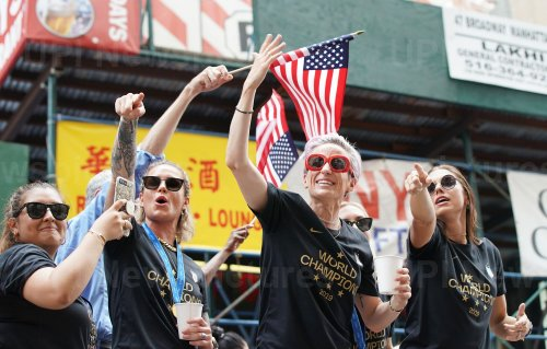 The United States Women's Soccer team Ticker-Tape Parade