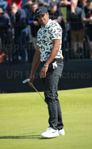 Tony Finau on the 3rd day of the Open Championship at Royal Portrush
