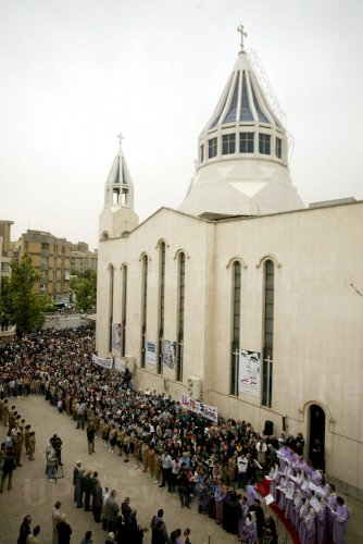Iranian-Armenians demonstrate marking the 94th anniversary of Turkish genocide of Armenians in Tehran