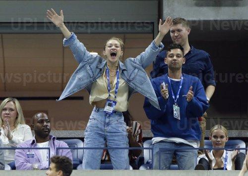 Gigi Hadid watches Serena Williams at the US Open