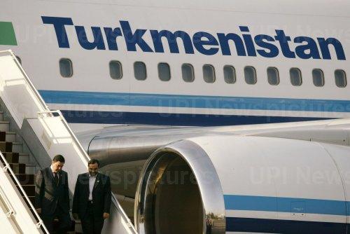 Turkmenistan's President Kurbanguly Berdymukhamedov Arrives Tehran