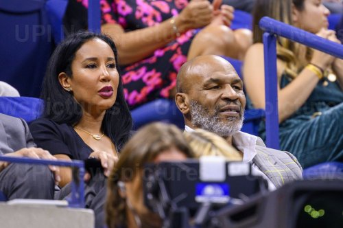 Mike Tyson and Lakiha Tyson attend the US Open