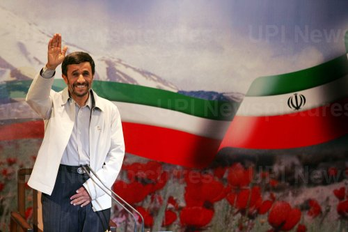 Iran's President Mahmoud Ahmadinejad holds a press conference