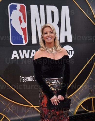 Jeanie Buss attends the 2019 NBA Awards in Santa, Monica, California