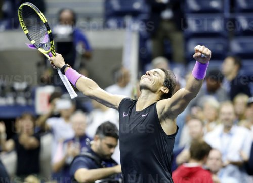 Rafael Nadal of Spain reaches the Men's Final at the US Open