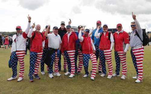 Golf fans on the 2nd day of the Open Championship at Royal Portrush