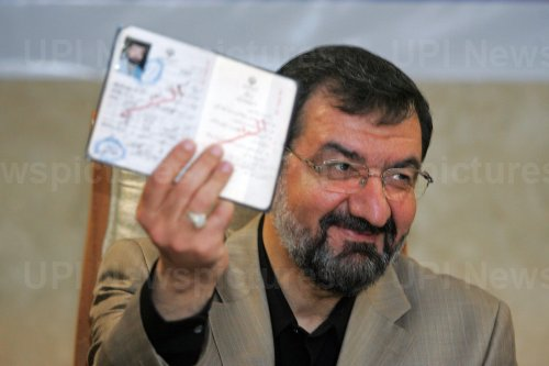 Iran's Expediency Council Secretary Mohsen Rezaie registers for upcoming presidential election in Tehran