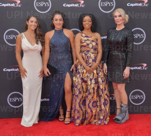 Aly Raisman, Jordyn Wieber, Tiffany Thomas Lopez and Sarah Klein attend the 26th annual ESPY Awards in Los Angeles