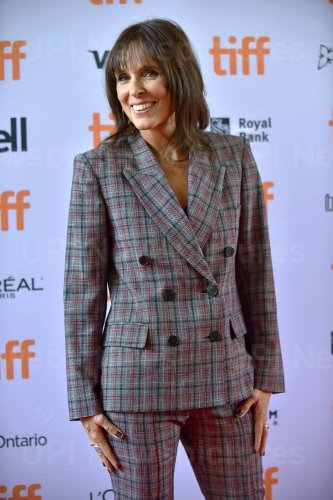 Coky Giedroyc attends 'How To Build A Girl' premiere at Toronto Film Festival