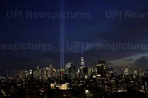 18th anniversary of 9/11 tribute in lights in New York