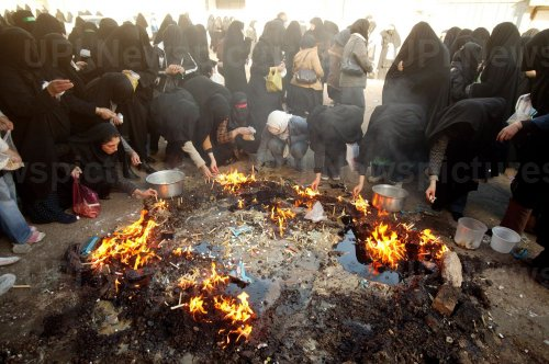 Special tradition to commemorate Tasua in Khorramabad, Iran