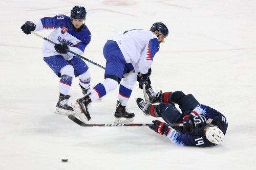 USA Ice Hockey Teams Plays Against Slovakia At The 2018 Pyeongchang Winter Olympics