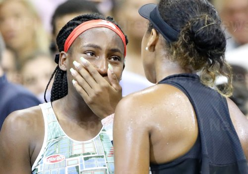 Coco Gauff breaks down in tears at the US Open