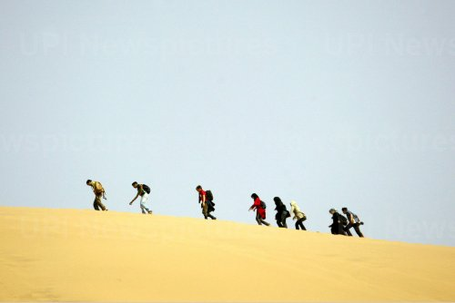 Iranians spend time in Dasht-e Kavir desert